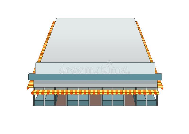 Marché de bâtiment de conception et couleur de gris illustration de vecteur