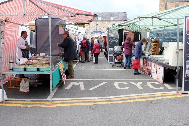 Marché de Bakewell, Derbyshire images libres de droits