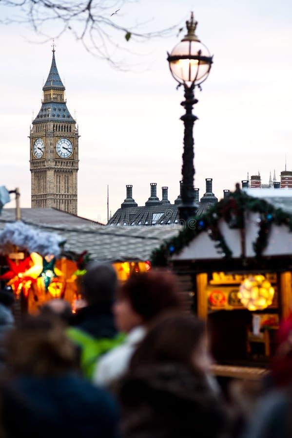 Marché de Christmans à Londres photos libres de droits
