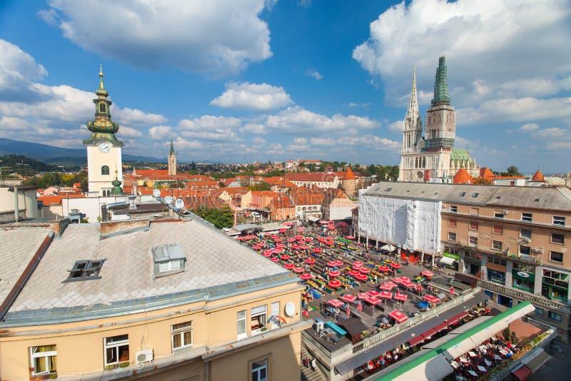Marché de Dolac, ZAGREB, CROATIE image stock