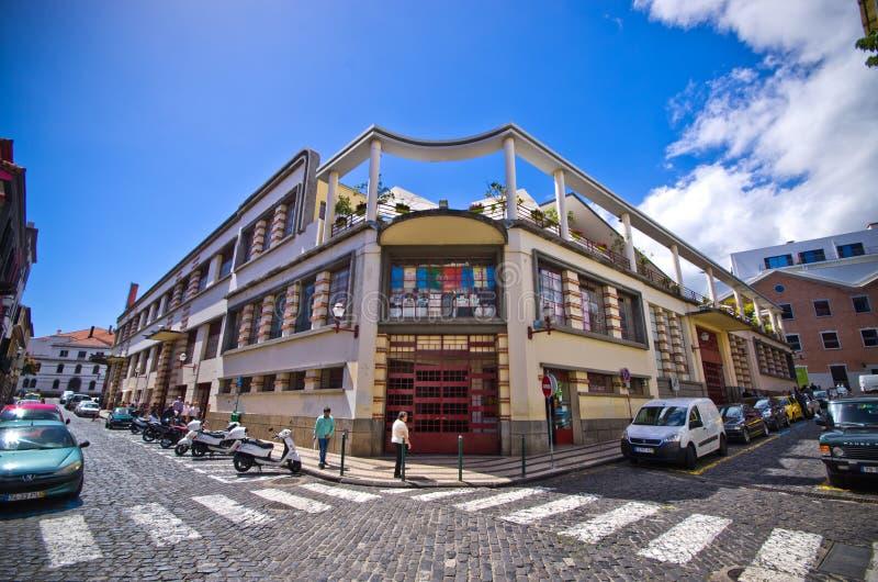 Marché de DOS Lavradores de Mercado à Funchal, Madère photo stock