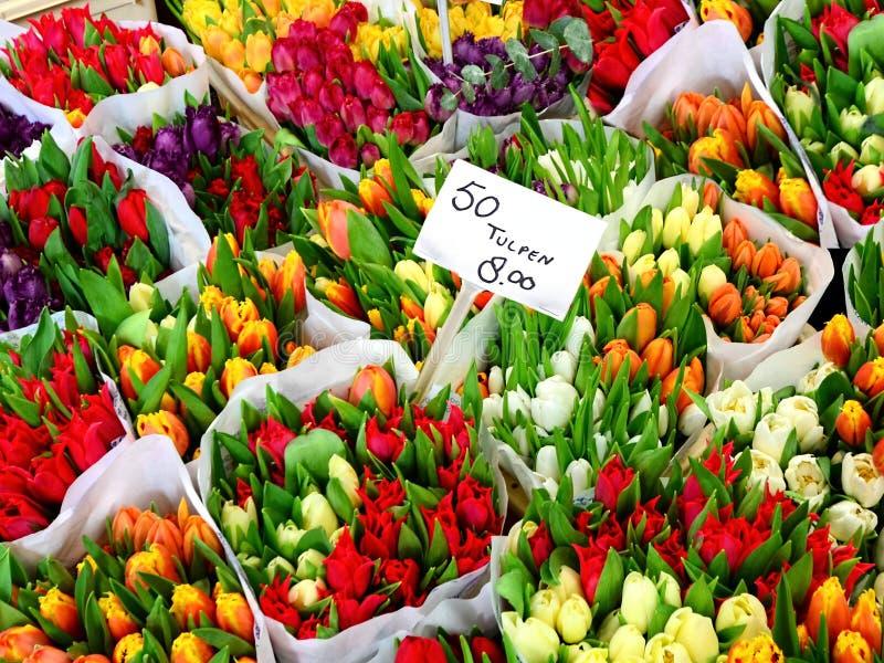 Marché de fleur photos libres de droits