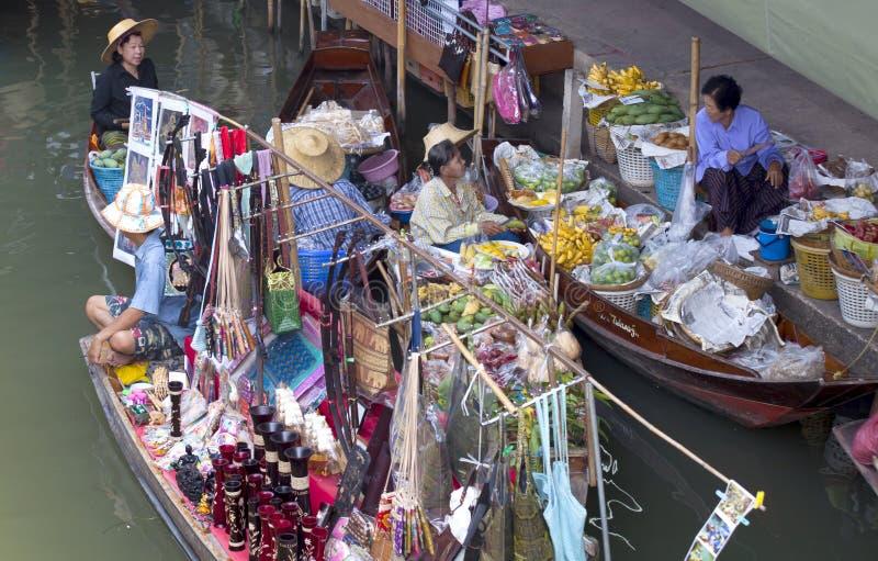 Marché de flottement de Bangkok image stock