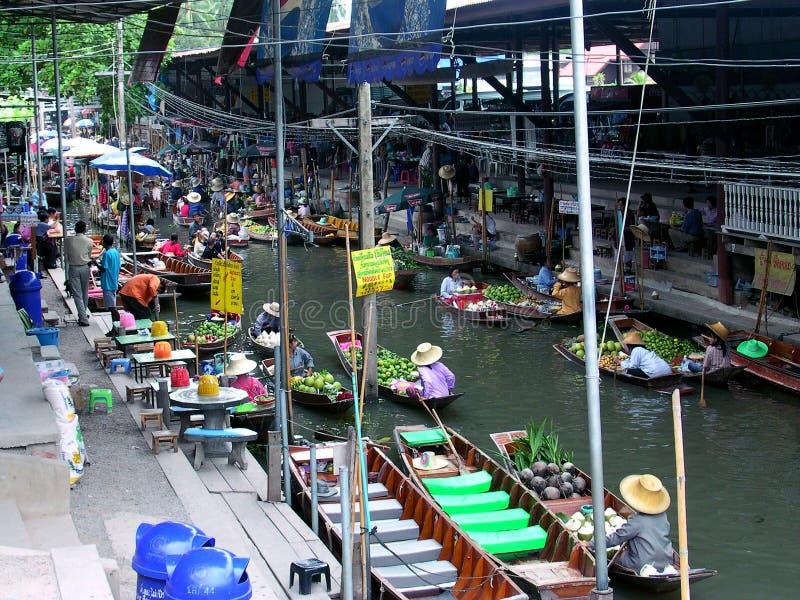 Marché de flottement de la Thaïlande photo libre de droits