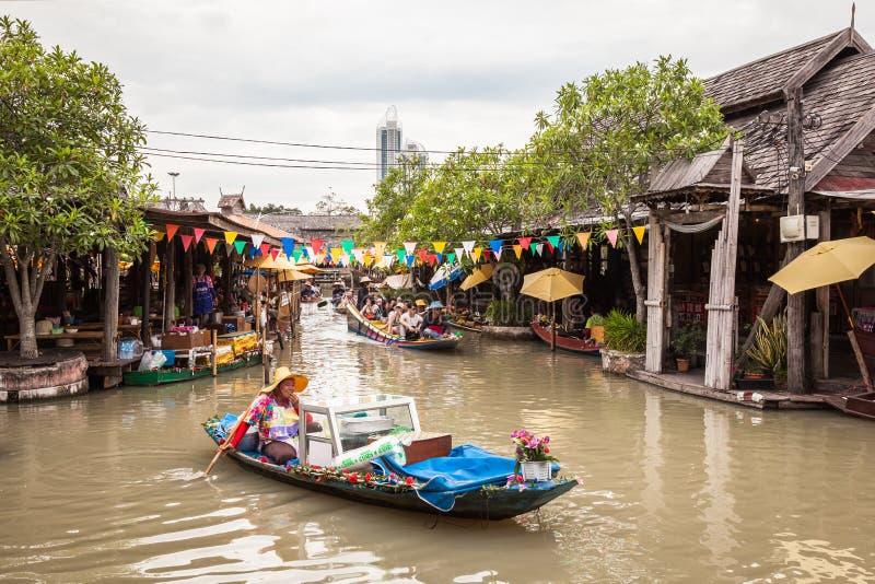 Marché de flottement de Pattaya image libre de droits