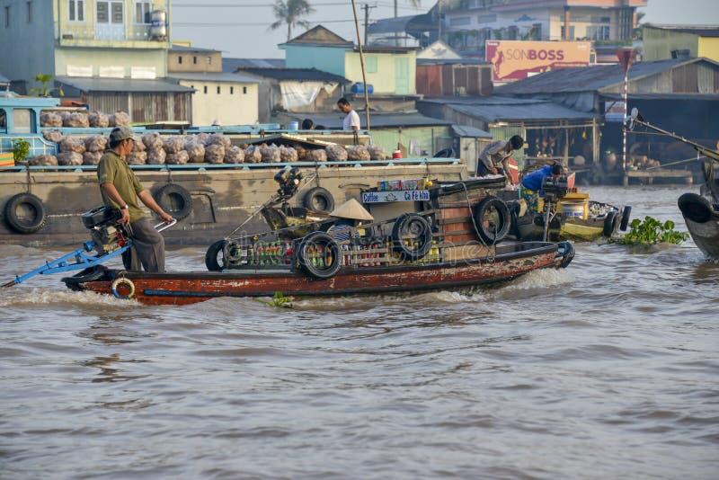 Marché de flottement, delta du Mékong, Can Tho, Vietnam image stock
