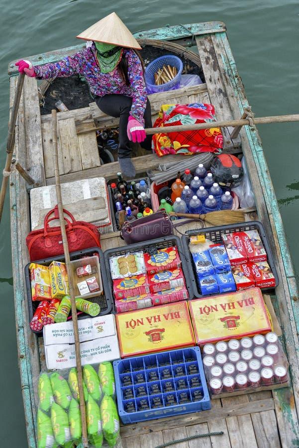 Marché de flottement, Vietnam photographie stock libre de droits