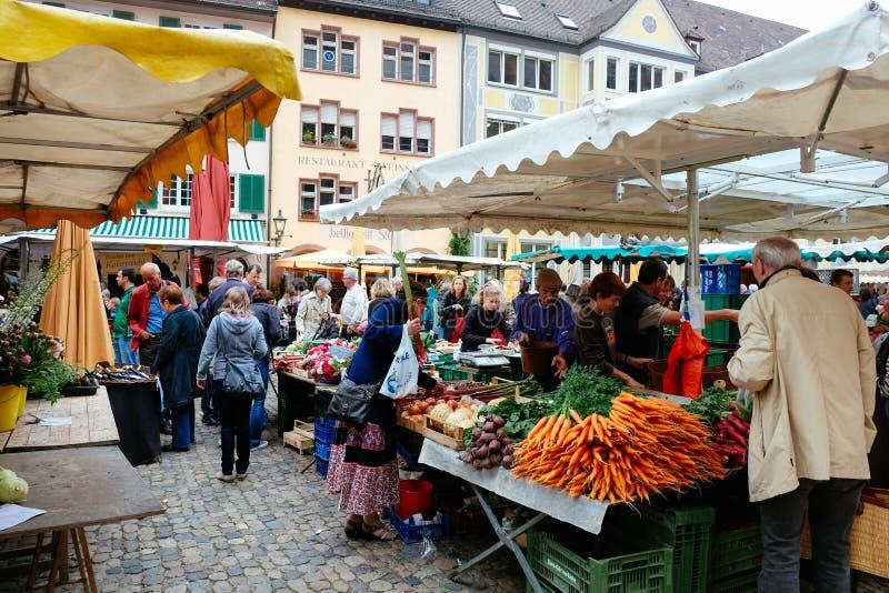 Marché de Fribourg, Allemagne photo libre de droits
