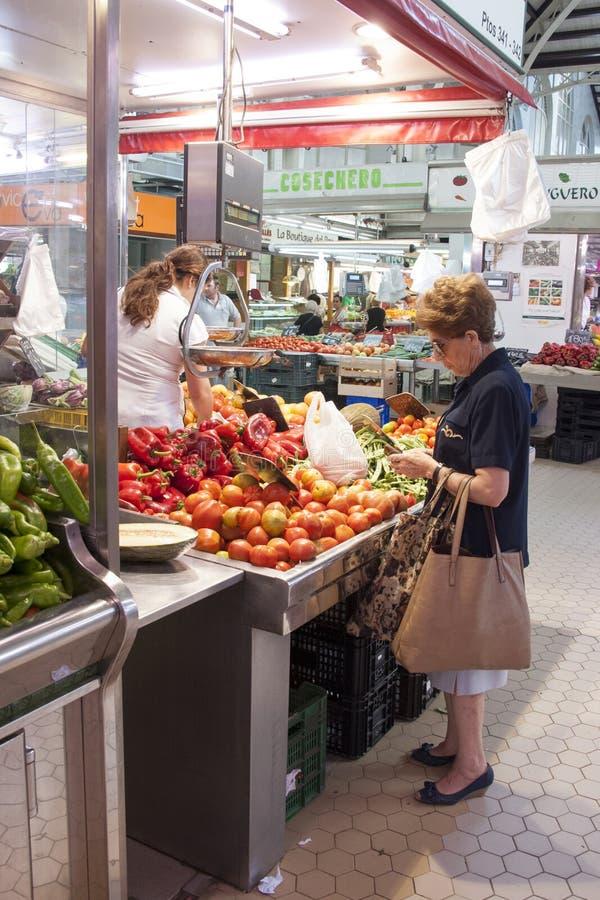 Marché de fruit à Valence - en Espagne photographie stock