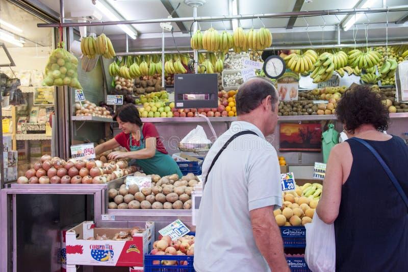 Marché de fruit à Valence - en Espagne image libre de droits