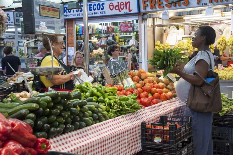 Marché de fruit à Valence - en Espagne image stock