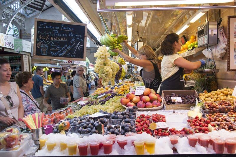 Marché de fruit à Valence - en Espagne photos stock
