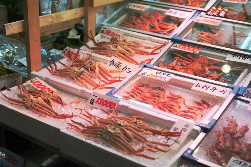 Marché de fruits de mer au Japon images stock