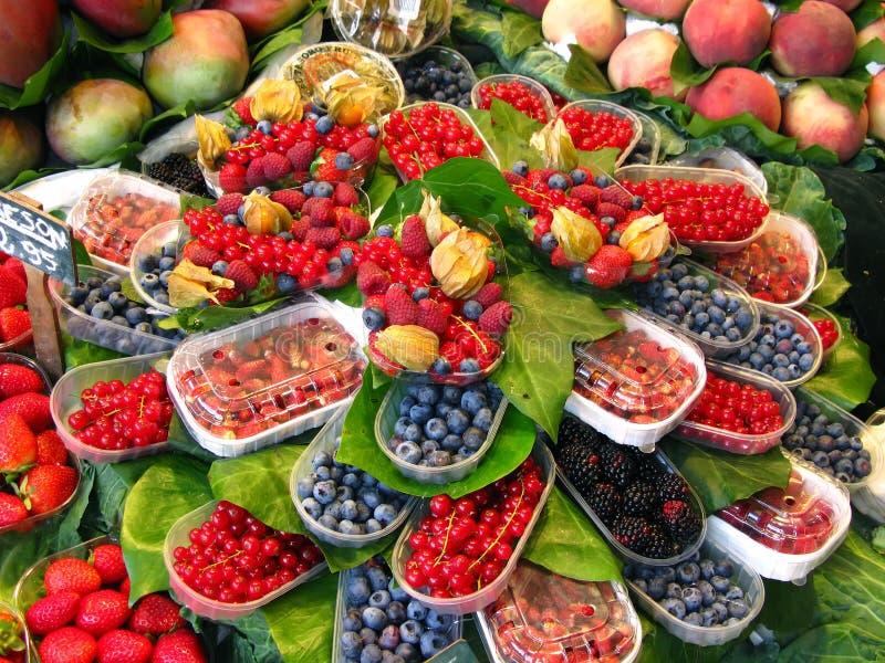 Marché de fruits en La Boqueria images stock