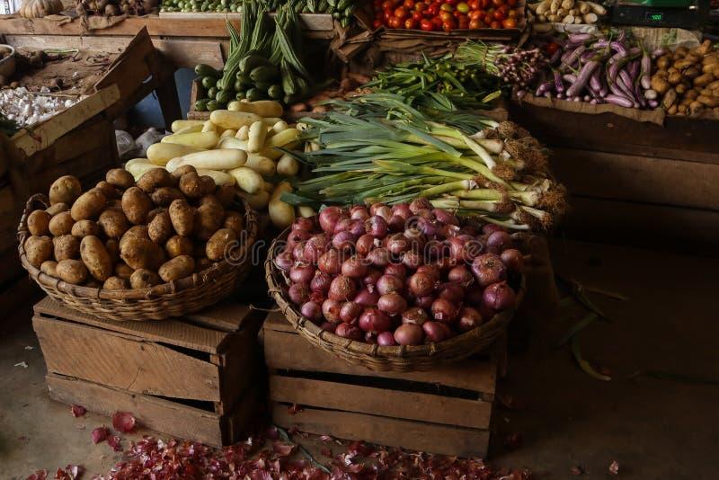 Marché de fruits et légumes sur le Sri Lanka photo stock