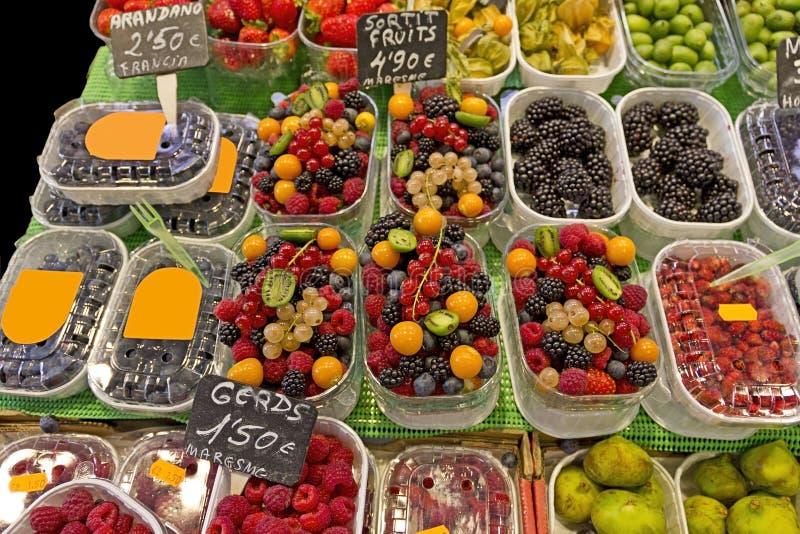 Marché de fruits (La Boqueria) images stock