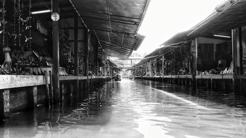 Marché de l'eau en Thaïlande photographie stock libre de droits