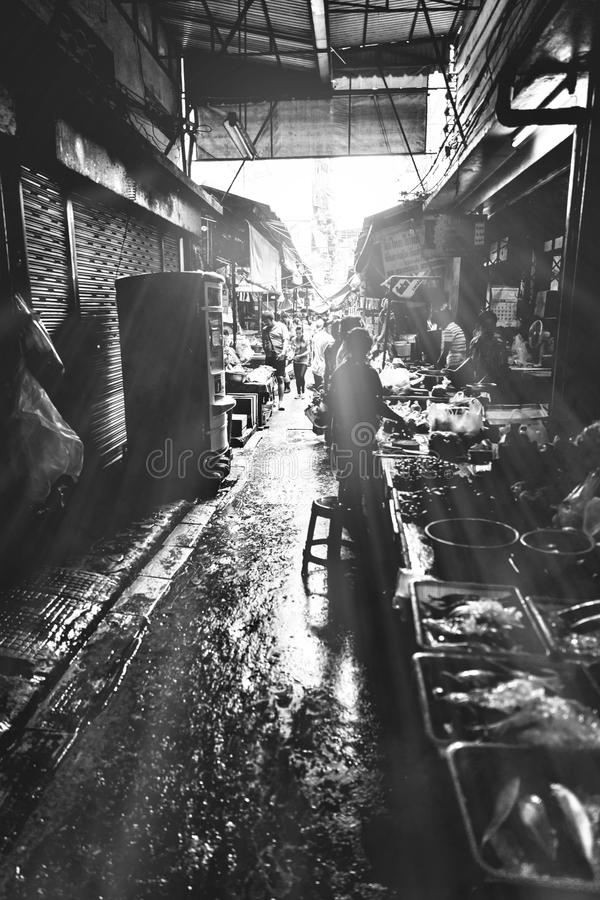 Marché de la Thaïlande Yaowarat photos stock