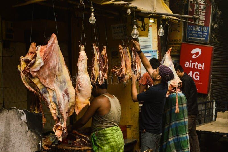 Marché de la viande photo libre de droits