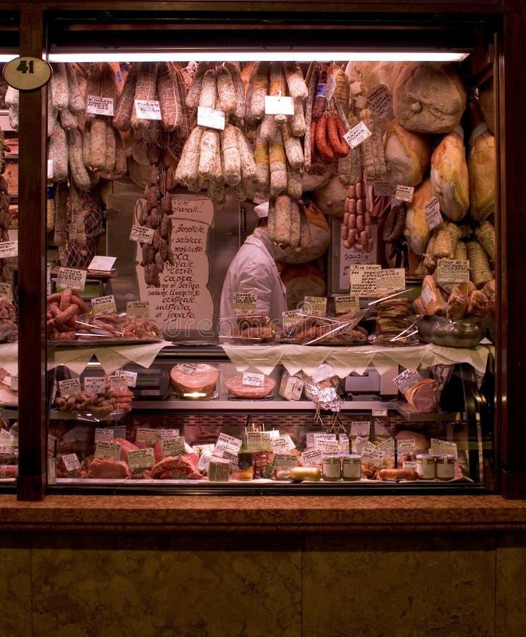 Marché de la viande image libre de droits