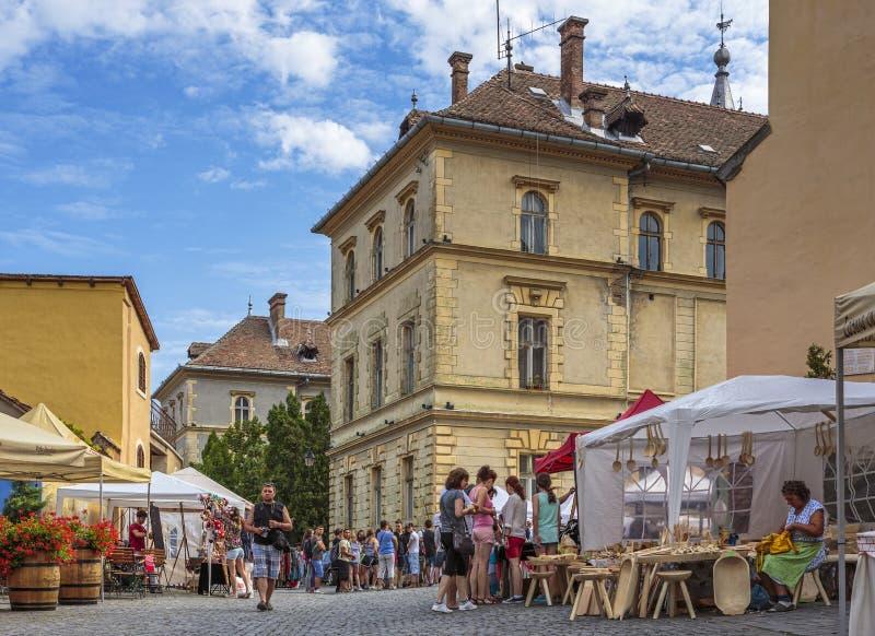Marché de métier, Sighisoara, Roumanie photos stock
