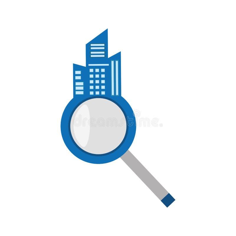 marché de maison de recherche d'immobiliers illustration stock
