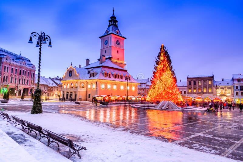 Marché de Noël de Brasov, la Transylvanie, Roumanie photographie stock