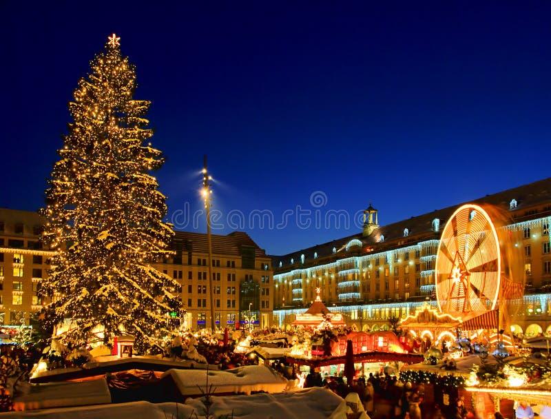 Marché de Noël de Dresde images libres de droits