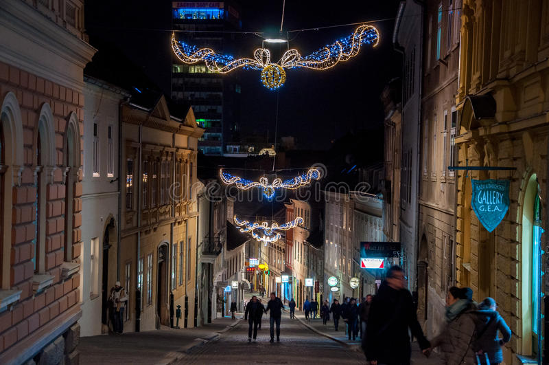 Marché de Noël de Zagreb image libre de droits