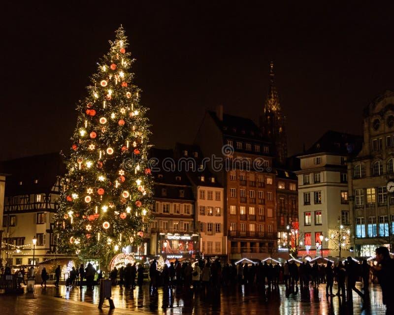 Marché 2017 de Noël de Strasbourg image stock
