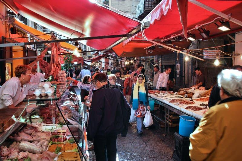 Marché de nourriture à Palerme images libres de droits