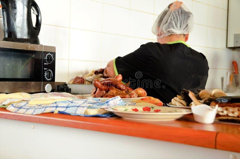 Marché de nourriture dans Dalcahue images stock