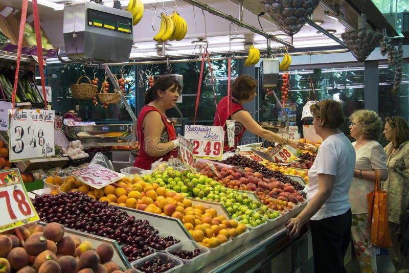 Marché de nourriture de rue Joseph - Barcelone - Espagne. image stock