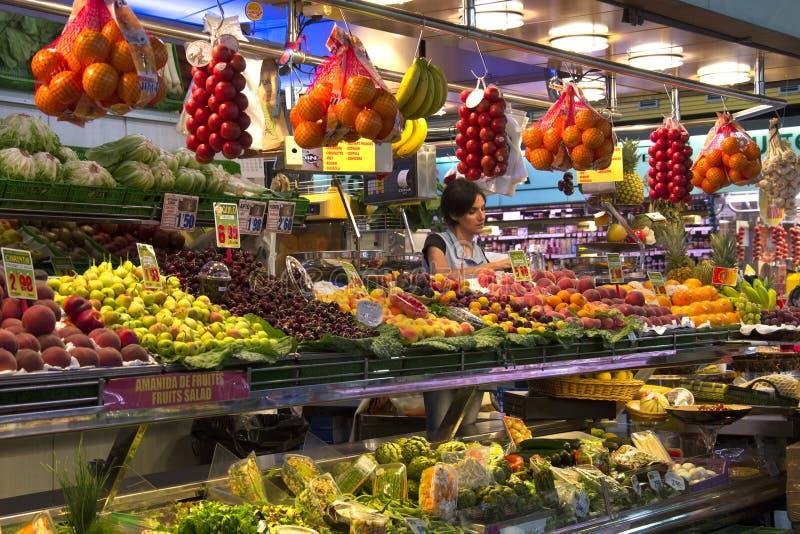 Marché de nourriture de rue Joseph - Barcelone - Espagne. images stock