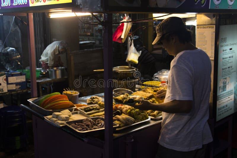 Marché de nourriture de nuit à Penang, Malaisie images stock