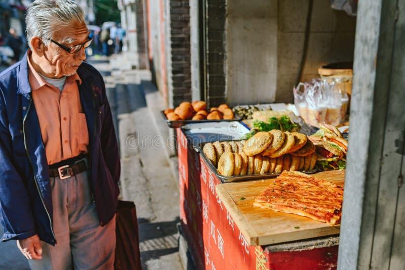 Marché de nourriture de rue sur Pékin, Chine photos stock