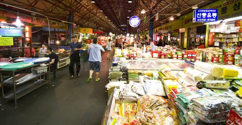 Marché de nourriture, Séoul images libres de droits