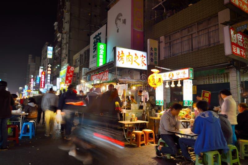 Marché de nuit de Liuhe photos stock