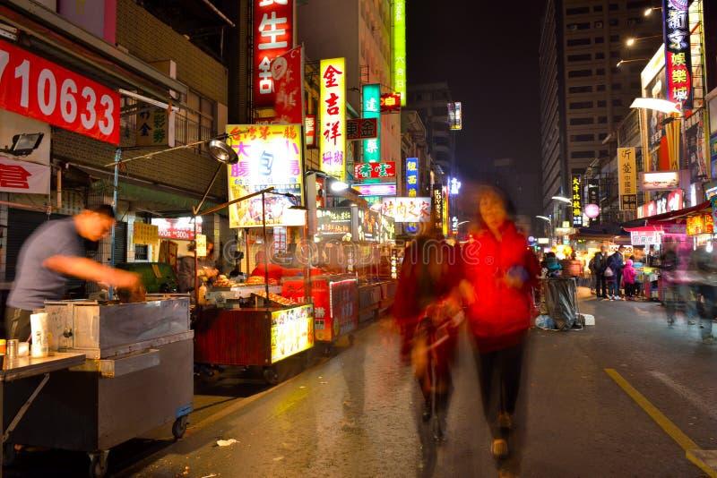 Marché de nuit de Liuhe image libre de droits