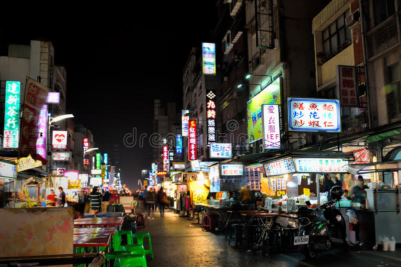 Marché de nuit de Liuhe photographie stock