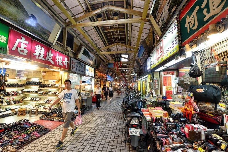 Marché de nuit de rue de Huaxi, Taïpeh images stock
