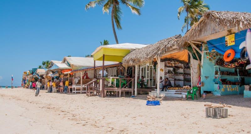 Marché de plage dans Punta Cana image stock