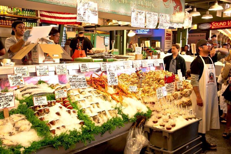 Marché de poissons de place de Pike photos libres de droits