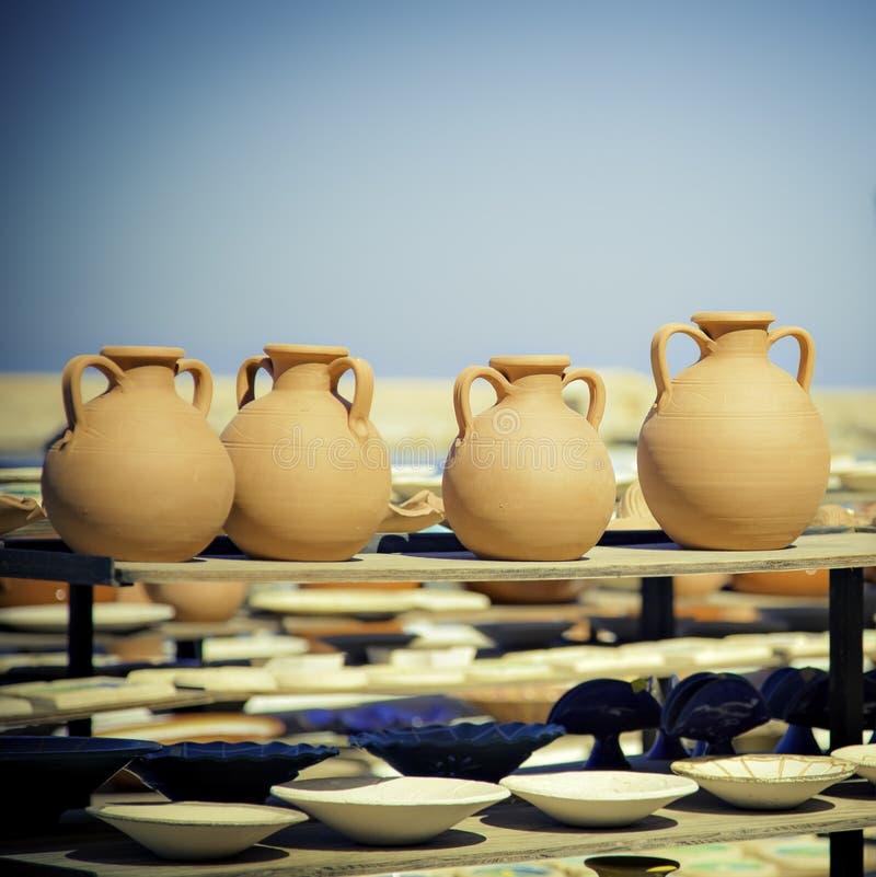 Marché de poterie photographie stock