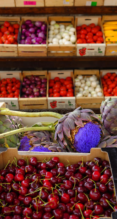 Marché de produit frais, Provence image stock