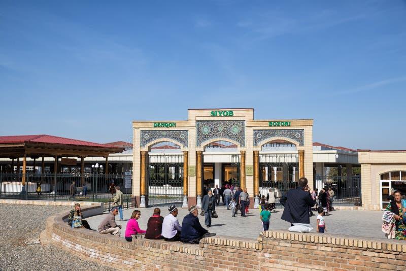 Marché de Siab, Samarkand, l'Ouzbékistan photographie stock libre de droits