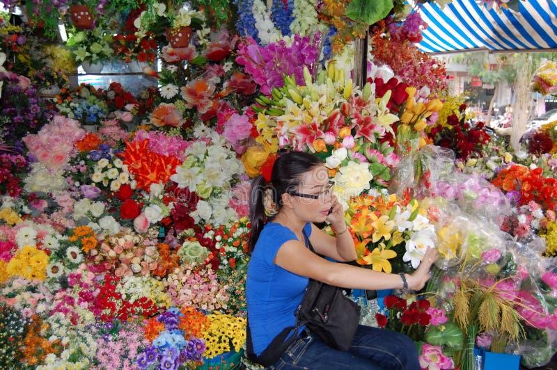 Marché de ville de Ho Chi Minh photos libres de droits