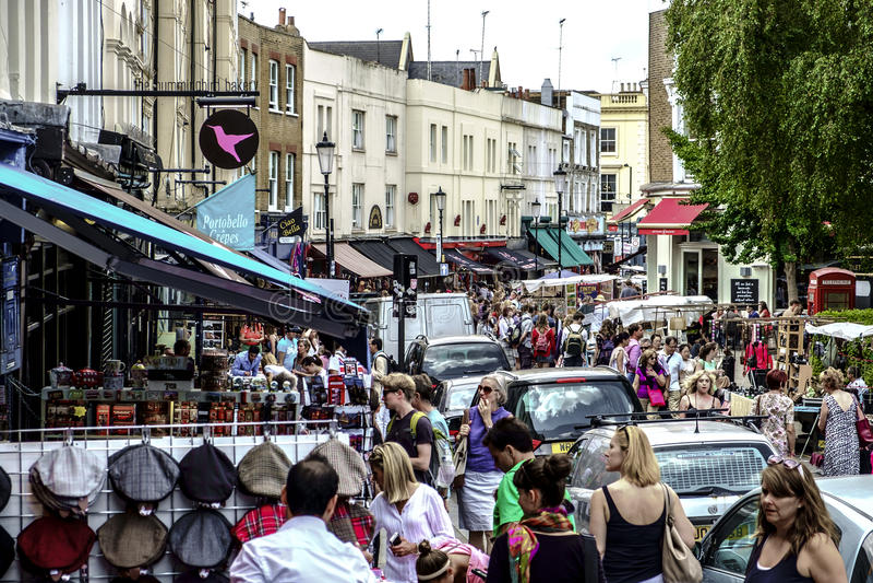 Marché de vintage dans Notting Hill photos libres de droits