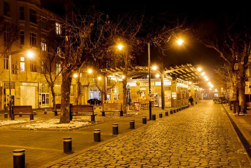 Marché de Women's par nuit à Sofia, Bulgarie photo libre de droits