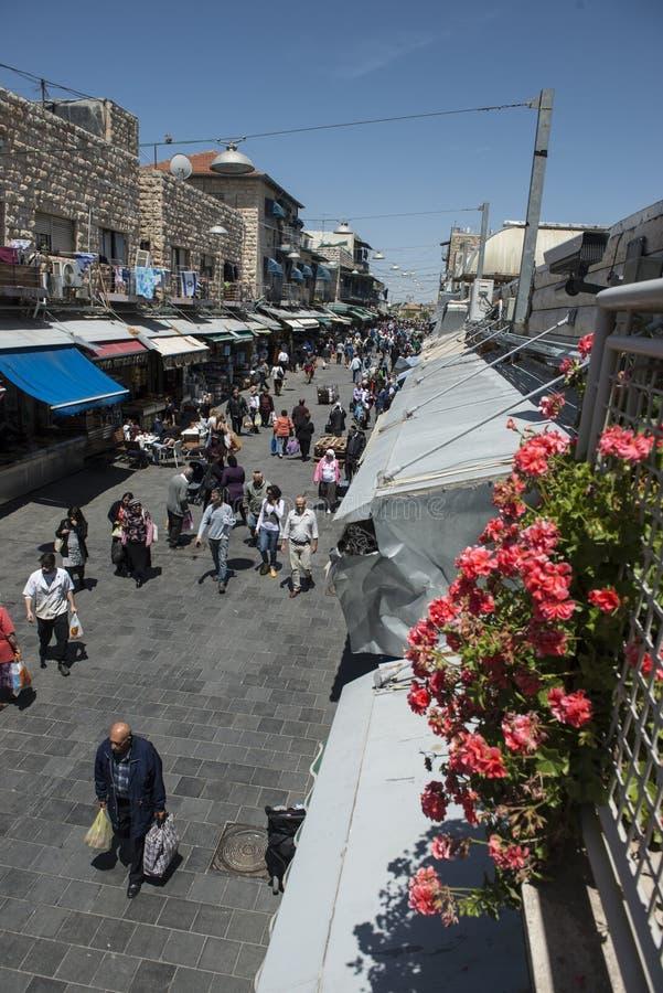 Marché de yehuda de Machane de jerusael, Israël images libres de droits
